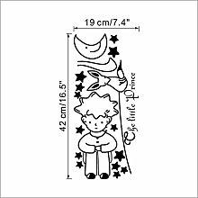 Adesivo murale Prince Fox Moon Star per camera dei