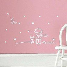 Adesivo murale principe con Fox Moon Star per la