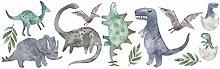 Adesivo murale PVC Fai da Te 3D Dinosauro Cartoon