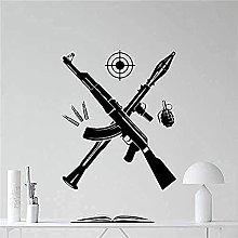 Adesivo murale PVC Missile Assault Rifle Granata