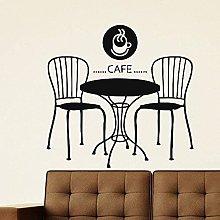 Adesivo Murale Pvc Rimovibile Adesivo Cafe