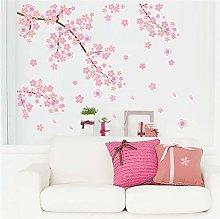 Adesivo Murale Pvc Rosa Fiori Di Ciliegio Albero