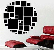 Adesivo Murale Quadrato Rotondo Decalcomania