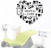 Adesivo murale rimovibile 57X52CM per dentisti e