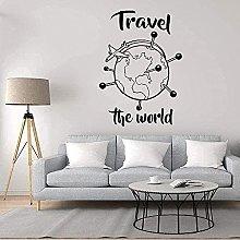 Adesivo Murale Rimovibile Adesivo Geografia