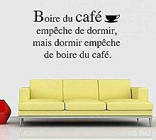 Adesivo murale rimovibile in vinile per caffè
