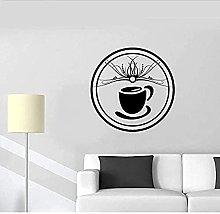 Adesivo Murale Rimovibile Modello Tazza Di Caffè