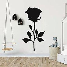 Adesivo murale rosa Decalcomania floreale Home