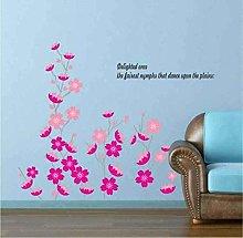 Adesivo murale rosa Pink Flower Dancing Home