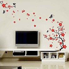 Adesivo murale Sakura e farfalla home art