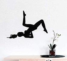 Adesivo Murale Salotto Donna Esercizio Fitness