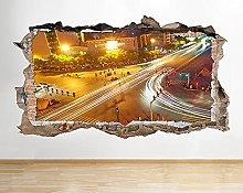 Adesivo murale Scena della città Cielo notturno