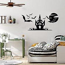 Adesivo Murale Scena Di Halloween Casa Stregata