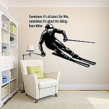 Adesivo Murale Sci Alpino Sports Art Adesivo Per