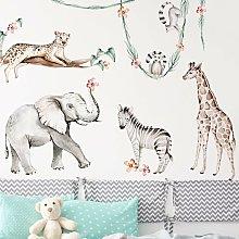 Adesivo murale - Set XXL di animali africani in