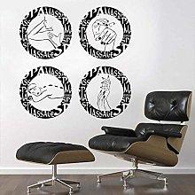Adesivo Murale Simbolo Di Massaggio Rotondo