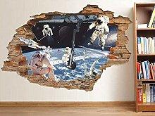 Adesivo murale spaziale Astronauta sulla terra