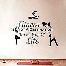 Adesivo Murale Sport Fitness Non Esercizio