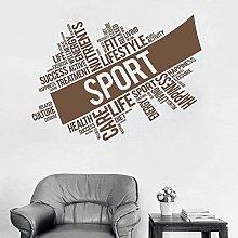 Adesivo murale Sport Fitness Wall Sticker Art