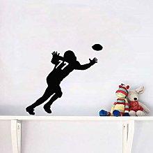 Adesivo Murale Sportivo Da Rugby Unico In Pvc