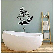 Adesivo murale Squalo stile marinaro Adesivo