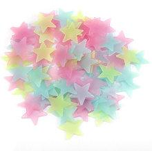 Adesivo murale stella luminosa, 3 cm, 100 pezzi,