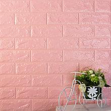 Adesivo murale stereo 3D, 60x30 cm, Princess Pink