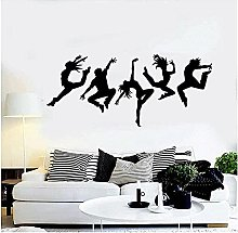 Adesivo murale Studio di danza Silhouette Danza