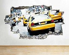 Adesivo murale Taxi New York New Works Famoso