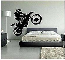 Adesivo murale tema motocross home art