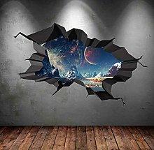 Adesivo murale Terra Luna Spazio Pianeta Galaxy