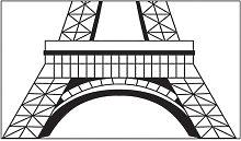 Adesivo murale, Torre Eiffel, 70 * 50 cm, LM7007