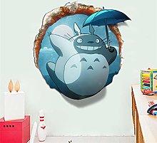 Adesivo murale Totoro 3D Adesivo per camerette per