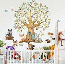 Adesivo murale - Tree Forest Animali Autunno