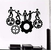 Adesivo Murale Ufficio Team Attrezzatura Da Lavoro
