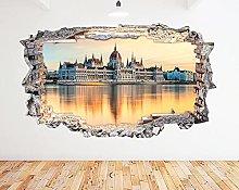 Adesivo murale Ungheria 3D Art Vinyl Room N538