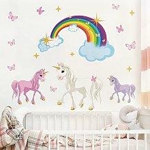Adesivo murale Unicorn Set Dimensione L×H: 40cm x