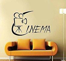 Adesivo Murale Vinile Decalcomania Per Cinema