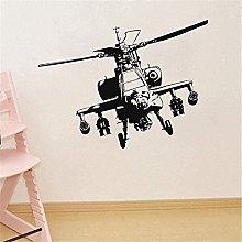 Adesivo Murale Vinile Elicottero Militare Colla