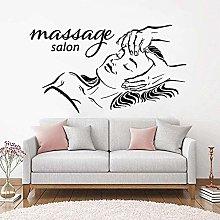 Adesivo Murale Vinile Massaggio Facciale Salotto