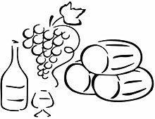 Adesivo Murale Vino UVA Ristorante Cucina Decor