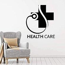 Adesivo murale wall art igiene logo vinile clinica
