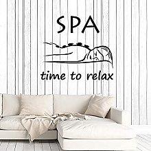 Adesivo Murale Wall Art Time Relax Vinile Spa