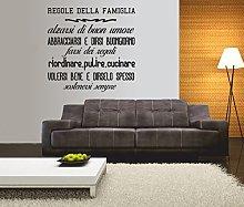 Adesivo murale - wall sticker - Le regole della