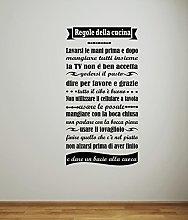 Adesivo murale - Wall Sticker - Regole della