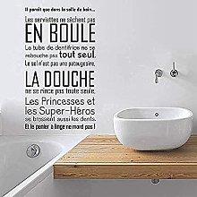 Adesivo murale wc regola bagno vinile adesivo