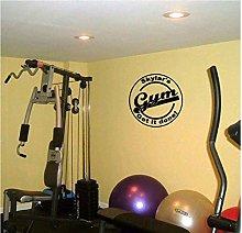 Adesivo Palestra Fitness Nome Decalcomania Fitness