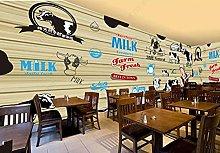 Adesivo parete Tavola di legno cartone animato