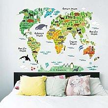 Adesivo per Bambini |Stickers Cartina del Mondo -
