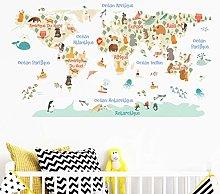 Adesivo per Bambini |Stickers Mappa del Mondo -
